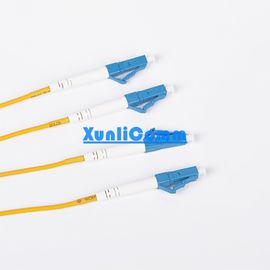 OEM LC LC Duplex Patch Cord Yellow Color Excellent Environmental Adaptability