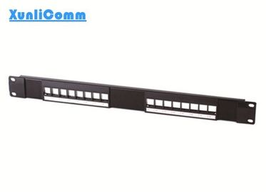 125 VAC RMS 1.5 AMP Network Patch Panel , 16 Port Empty Patch Panel