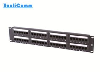 Space Saving Network Patch Panel , 48 Port Patch Panel Quick Installation Design